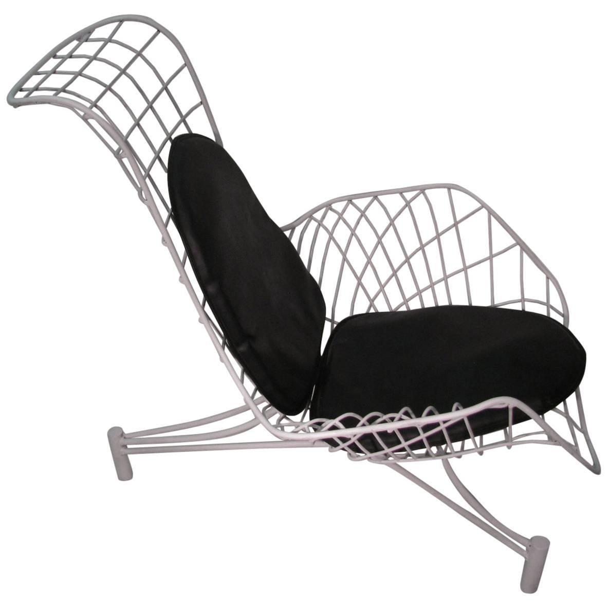 Vladimir Kagan Mid-Century Modern Lounge Chair Recliner with Original Pads