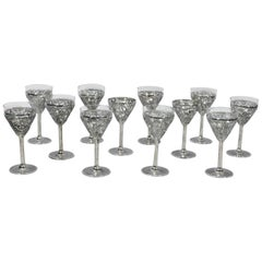 Set of Ten Chinese Export Silver Exotic Cocktail Cups
