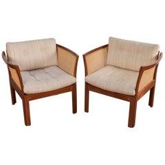 Pair of Plexus Easy Chairs in Mahogany by Illum Wikkelsø for C. F. Christensen