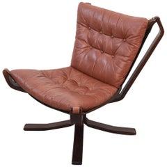 Danish Midcentury Leather Easy Chair
