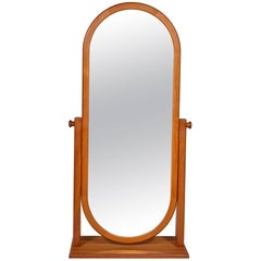Danish Teak Cheval Mirror, 1970s