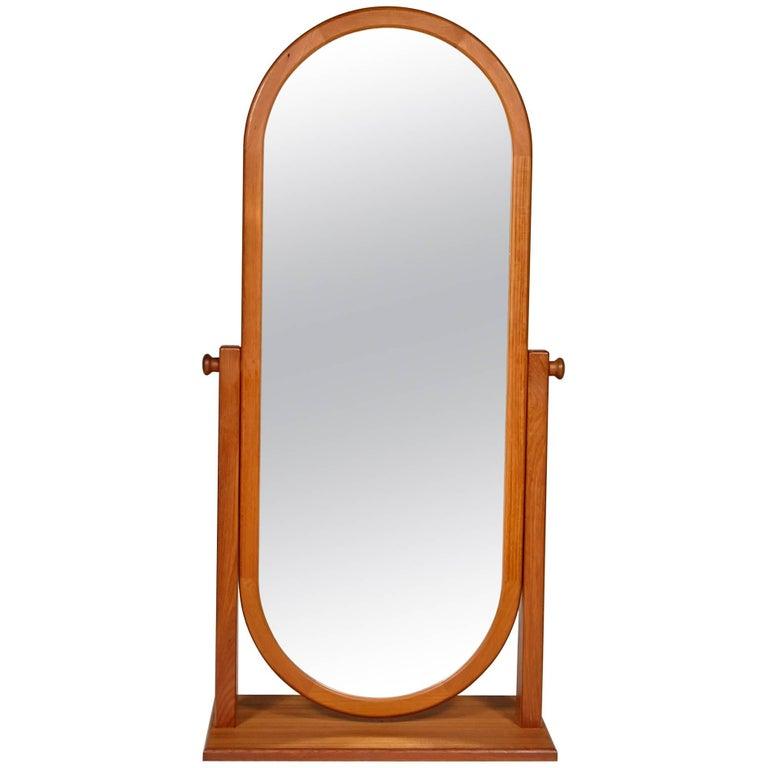 Danish Teak Cheval Mirror, 1970s