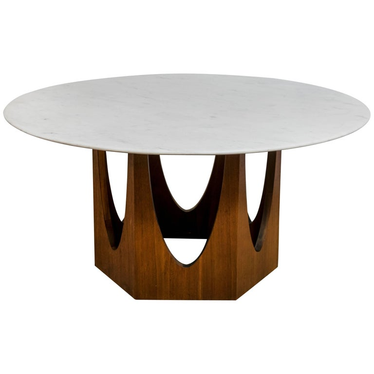 Harvey Probber Walnut And Marble Coffee Table For Sale At 1stdibs
