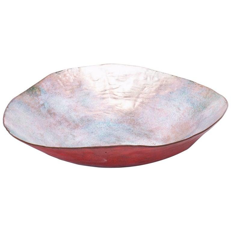 Red Enamel Bowl by Paolo De Poli
