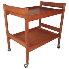 Mid-Century Modern Teak Bar Cart