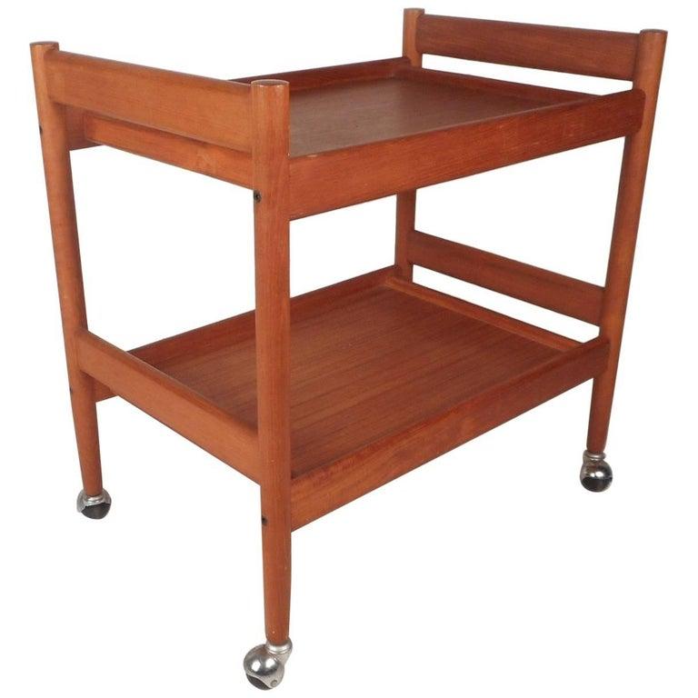 Mid-Century Modern Teak Bar Cart For Sale
