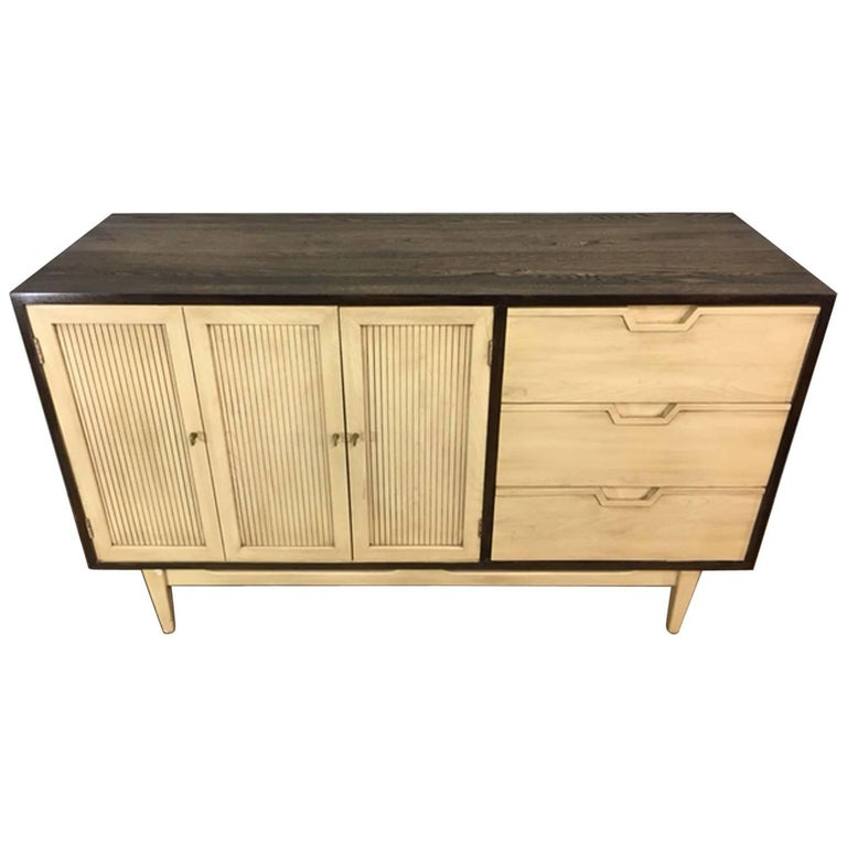 Two-Toned Mid-Century Modern Credenza