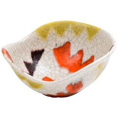 Guido Gambone Free-Form Ceramic Bowl with Tribal Motif, 1950s