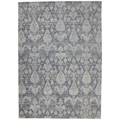 New Modern Transitional Ikat Area Rug