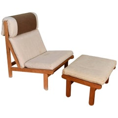 Bernt Petersen Rag Chair and Ottoman