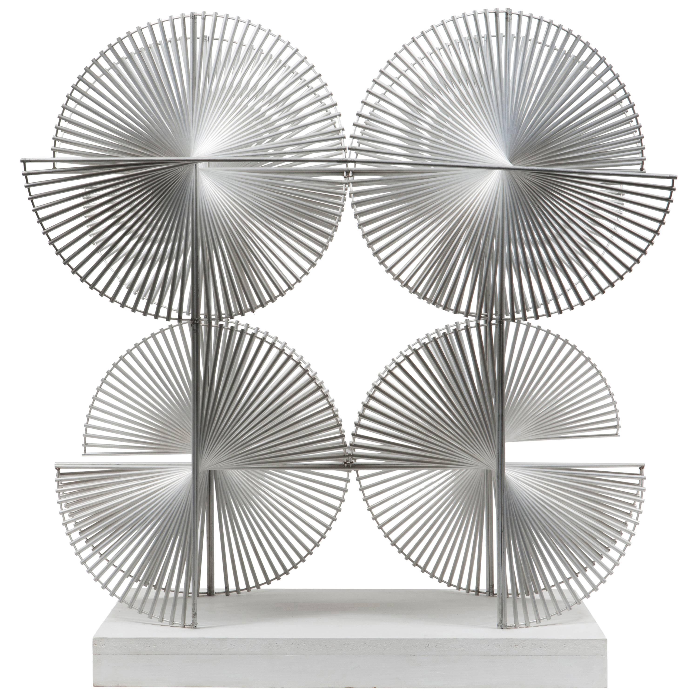 Aluminum Sculpture by Bertil Herlow Svensson, circa 1970
