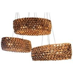Organic Inspired Ceramic Hanging Light