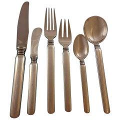 Windsor by Sorensen Sterling Silver Danish Flatware Set Service 87 Pcs Dinner