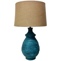 Italian Ceramic Table Lamp by Bitossi, Mid-Century Modern