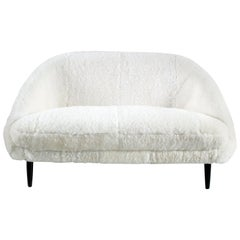 Sofa Model 115 Executed in Sheepskin Designed by Theo Ruth for Artifort, Holland