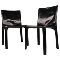 CAB 412 Pair of Chairs Mario Bellini Cassina