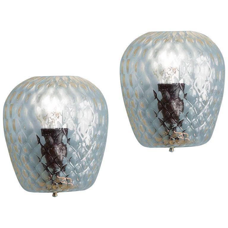 Vintage Murano Glass Sconces