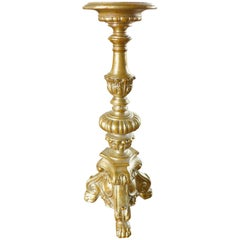 20th Century Giltwood Carved Base for Lamp
