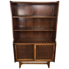 Lane Basket Weave Hutch and Bookcase