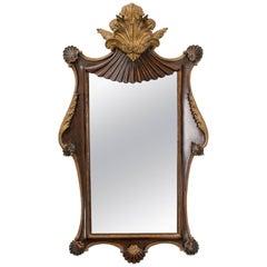 Antique Italian Giltwood Rococo Mirror