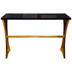 Brass and Resin Console