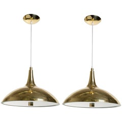 Pair of Paavo Tynell Style Brass Pendants