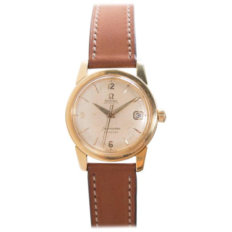 Omega Seamaster Calendar 2849SC 18-Karat Gold, Automatic Wristwatch