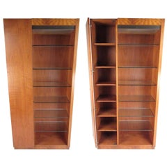 Pair of Scandinavian Modern Teak Display Cabinets