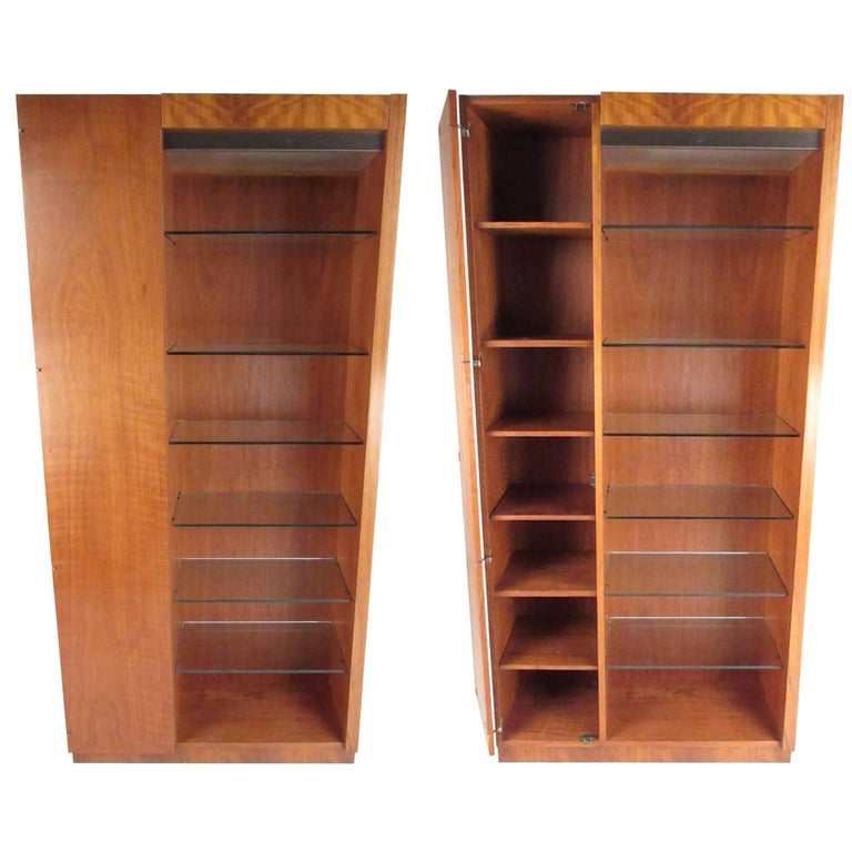 Pair of Scandinavian Modern Teak Display Cabinets