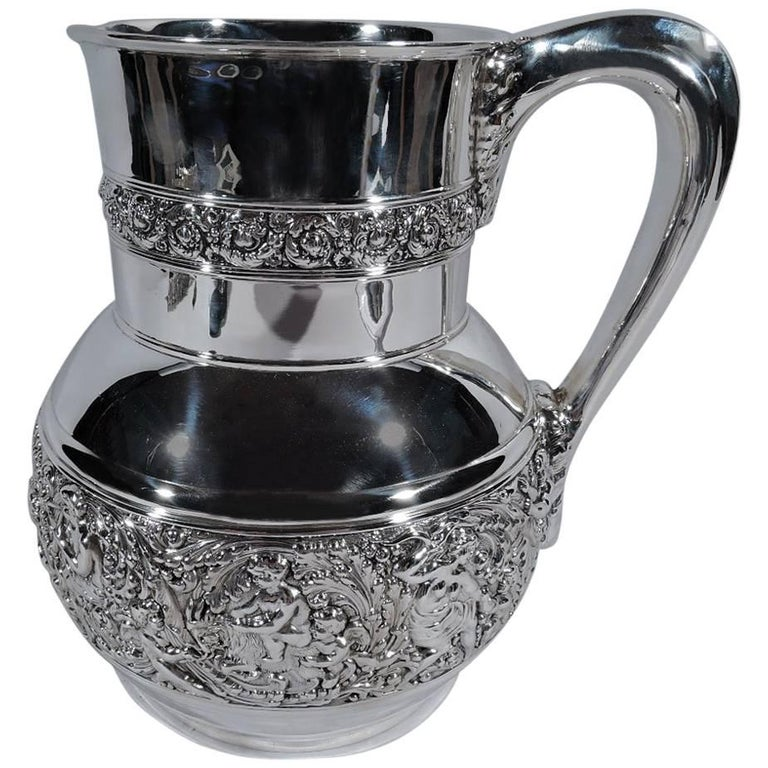 Antique Tiffany Olympian Sterling Silver Water Pitcher
