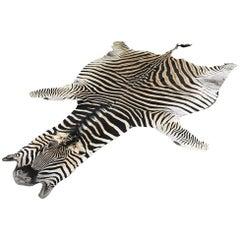 Natural Zebra Hide Rug