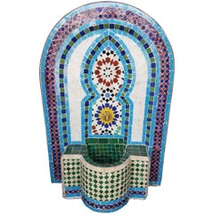 Arched Multi-Color Moroccan Mini Fountain All Glazed Mosaic