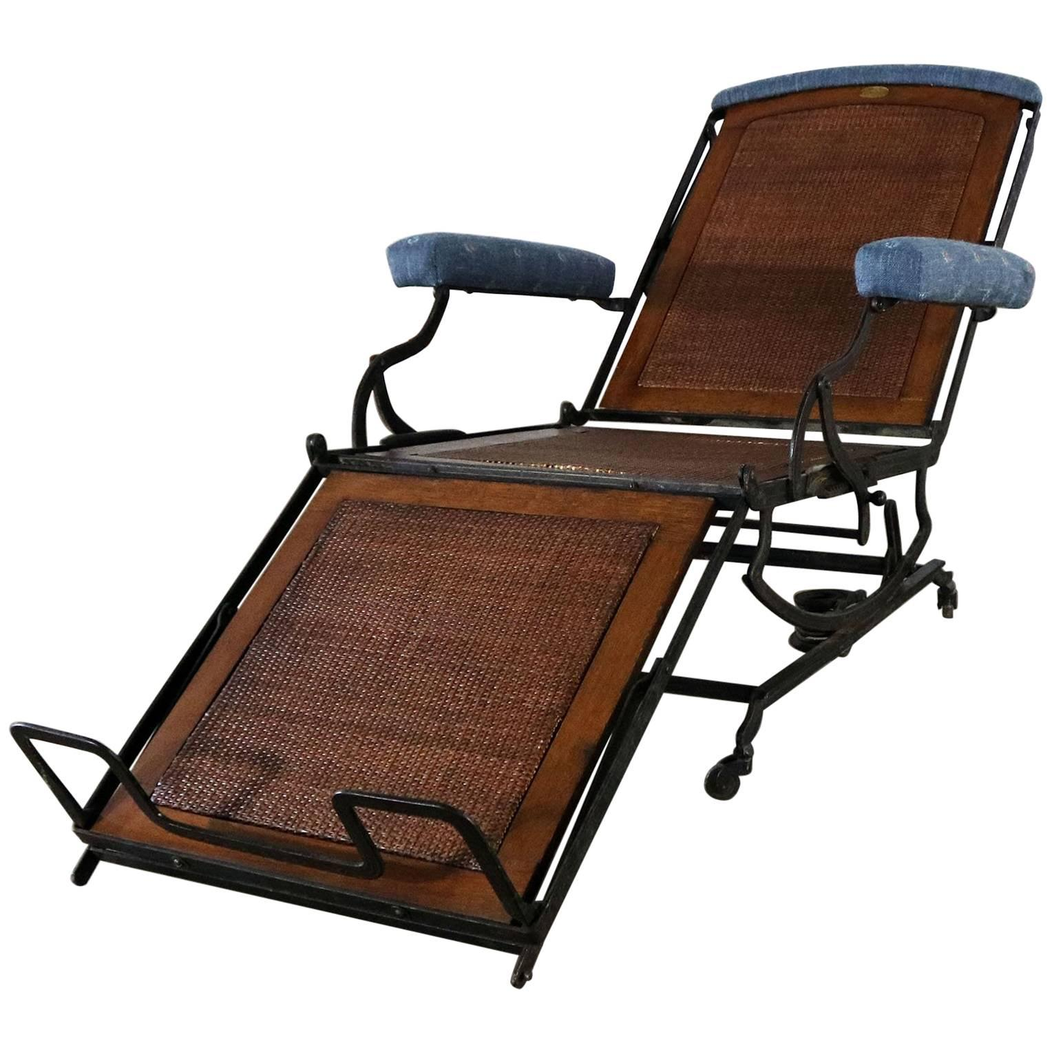 Marks Adjustable Folding Chair Company C&aign Style Invalid Deck Chair  sc 1 st  1stDibs & Antique Folding Luxury Wood Steamer Deck Chair circa 1890 England ...
