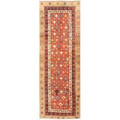Small Tribal Antique Persian Bakshaish Rug