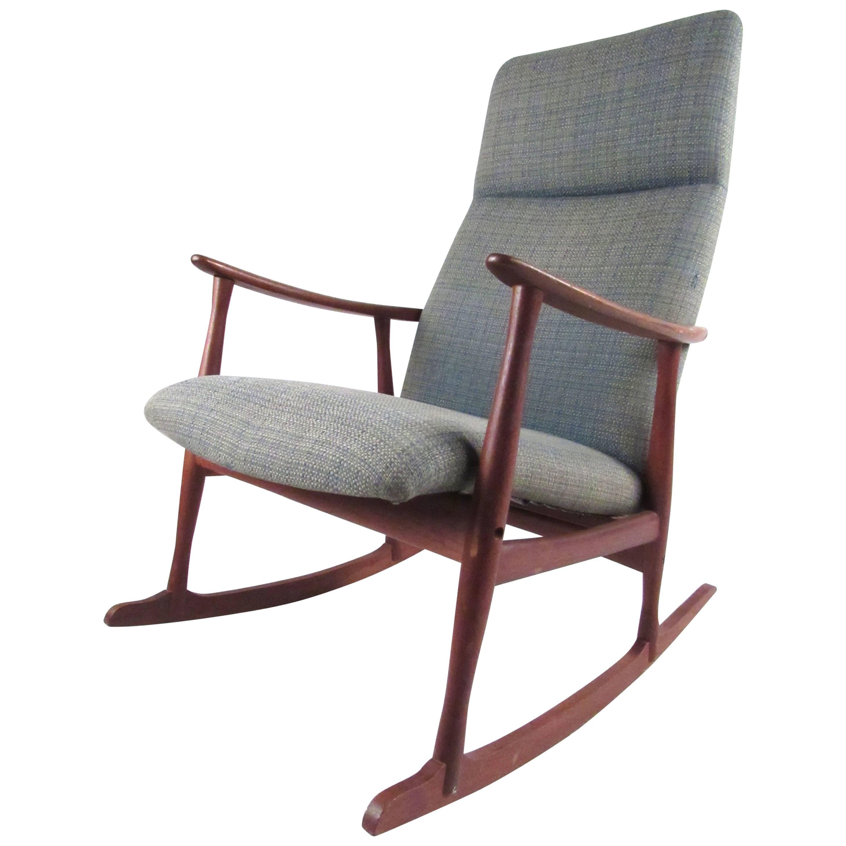 Classic Mid-Century Danish Teak Rocking Chair