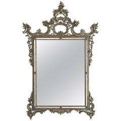 Late 19th Century Italian Baroque-Style Wall Mirror