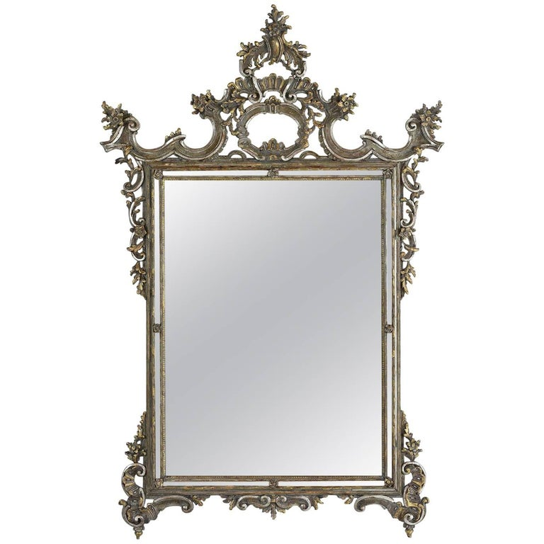 Late 19th century italian baroque style wall mirror for for Floor mirror italian baroque rococo style
