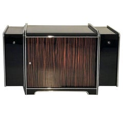 Art Deco Bar Cabinet Made of Macassar Wood