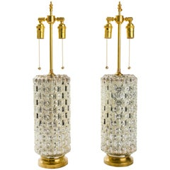 Textured Cylindrical Mercury Glass Lamps