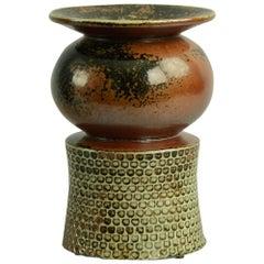 Unique Vase with Tenmoku Glaze by Stig Lindberg for Gustavsberg, 1963