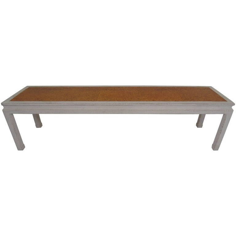 Edward Wormley For Dunbar Coffee Table With Inset Cork Top For Sale At 1stdibs