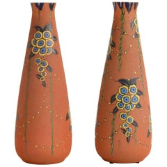 Pair of Large Auguste Heiligeinsten for Leune Vases