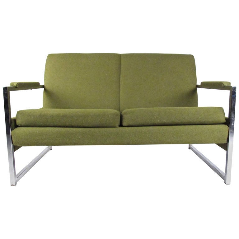 Mid century modern two seat sofa for sale at 1stdibs for Mid century modern sofa for sale