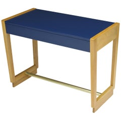 Edward Wormley for Drexel Precedent Collection Midcentury Beech Desk with Brass