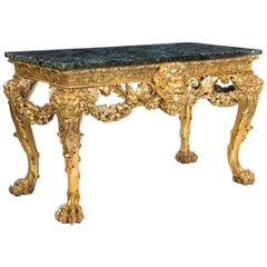 Victorian Giltwood Console Table in the Manner of William Kent