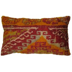 Boho Chic Vintage Turkish Lumbar Rug Pillow