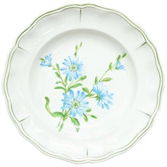 "Set of 66 French Luneville Hand-Painted Floral Dining Plates ""Rovina Epinal"""