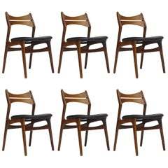 1960s Erik Buck Danish Teak Dining Chairs - Set of Six - 45 Available