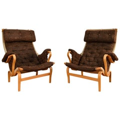 Pair of Bruno Mathsson Pernilla Lounge Chairs by DUX
