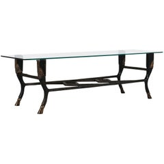 Christopher Chodoff Bronze and Glass Coffee Table